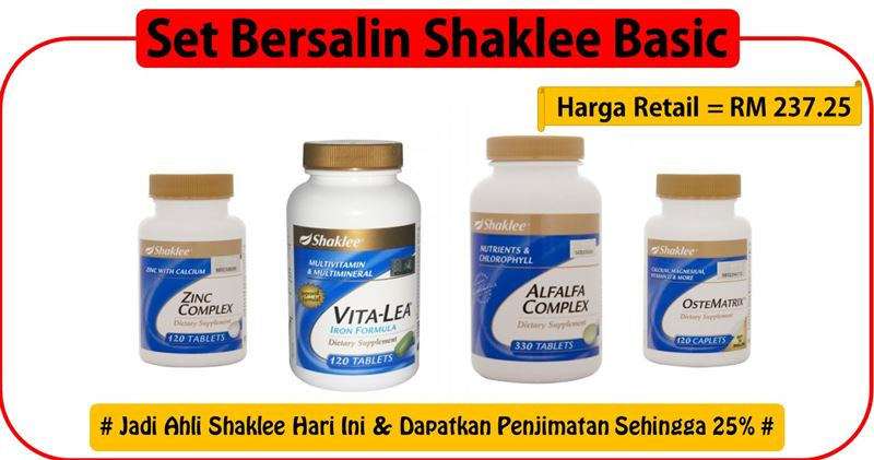 Set-Bersalin-Shaklee-Basic
