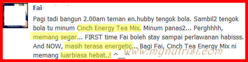 testimoni cinch tea 1